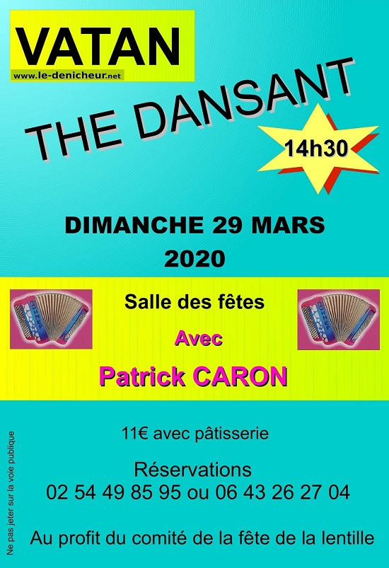 c29 - DIM 29 mars - VATAN - Thé dansant avec Patrick Caron */ 03-29_23