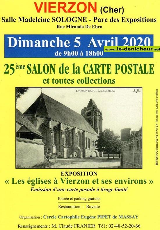 d05 - DIM 05 avril - VIERZON - Salon de la carte postale et toutes collections * 04-05_21