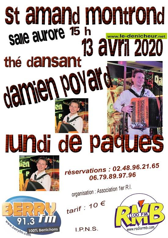 d13 - LUN 13 avril - ST-AMAND MONTROND - Thé dansant avec Damien Poyard annulé */ 04-13_38
