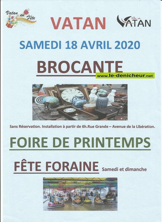 d18 - SAM 18 avril - VATAN - Brocante de Vatan en Fête annulée */ 04-18_13
