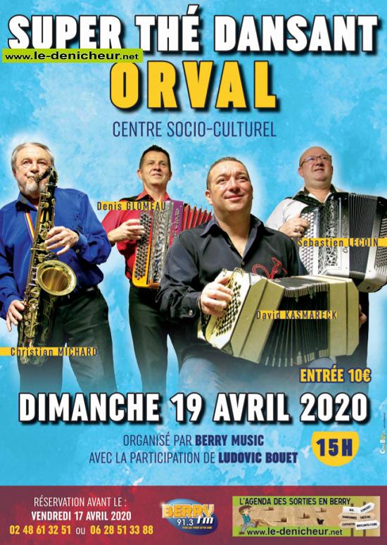 d19 - DIM 19 avril - ORVAL - Thé dansant avec C.Michard, D.Glomeau, D.Kasmareck, S.Lecoin */ 04-19_15