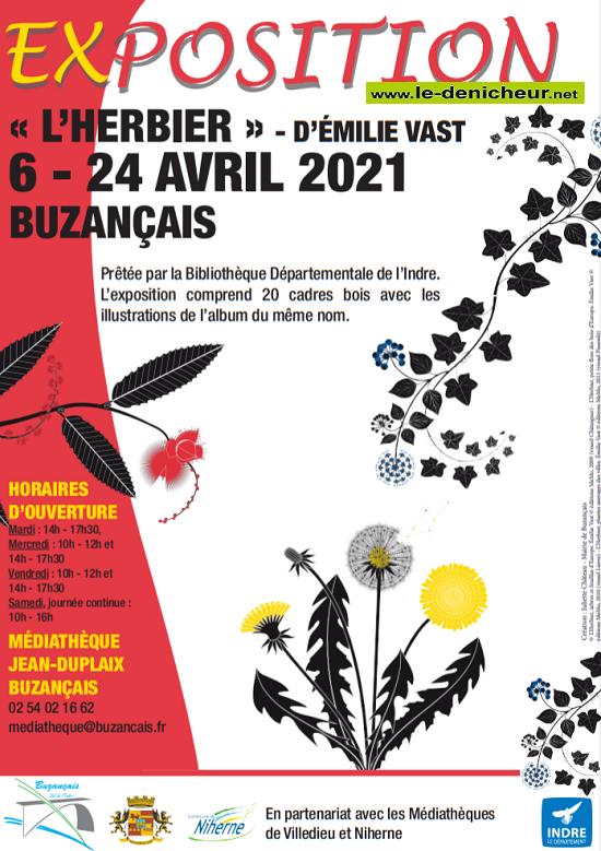 """p24 - Jusqu'au 24 avril - BUZANCAIS - Exposition """"L'herbier"""" _* 04-2410"""