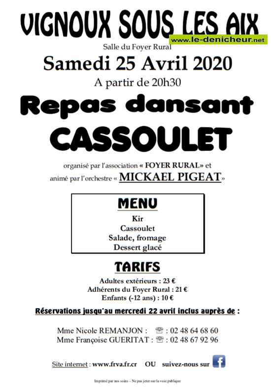 d25 - SAM 25 avril - VIGNOUX sous les Aix- Repas dansant avec Mickaël Pigeat */ 04-25_10