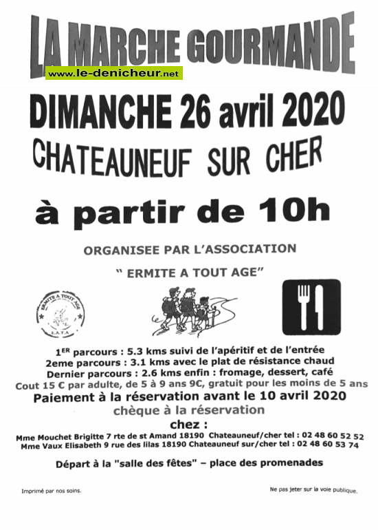 d26 - DIM 26 avril - CHATEAUNEUF /Cher - Marche gourmande */ 04-26_13