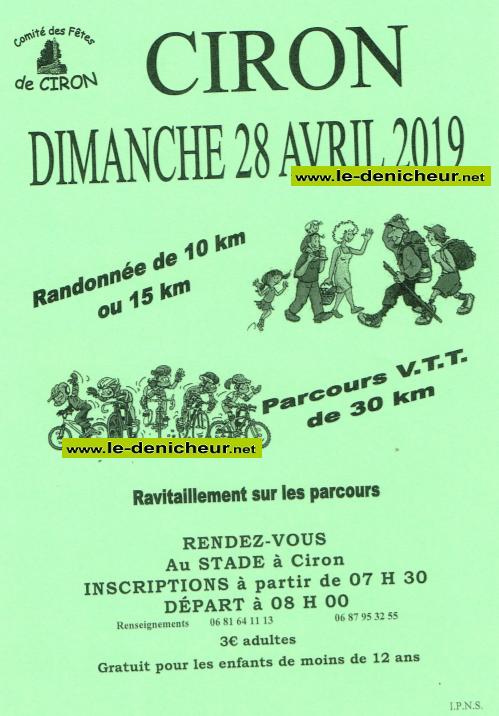 p28 - DIM 28 avril - CIRON - Randonnée pédestre et VTT */ 04-28_15