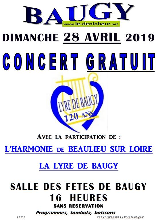 p28 - DIM 28 avril - BAUGY - Concert dans le cadre de ses 120 ans de la Lyre */ 04-28_19