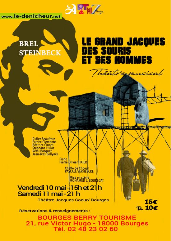 q10 - VEN 10 mai - BOURGES - Le Grand Jacques, des souris et des Hommes */  05-10_11