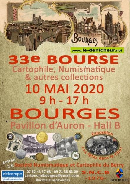 e10 - DIM 10 mai - BOURGES - Bourse cartophile, numismatique et autres collections * 05-10_15