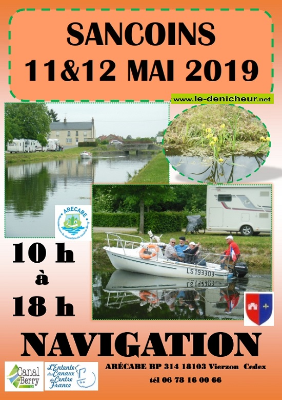 q12 - DIM 12 mai - SANCOINS - Navigation sur le Canal de Berry */ 05-11_12