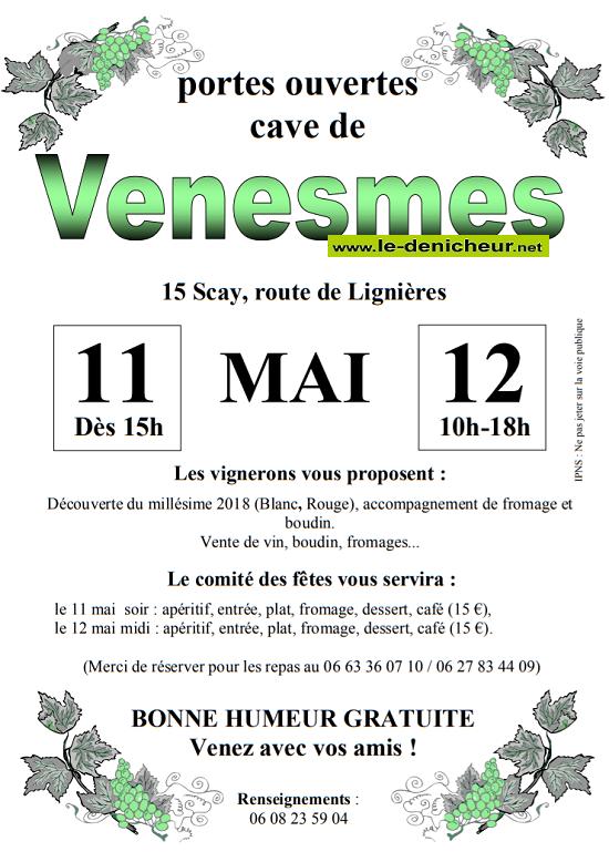 q12 - DIM 12 mai - VENESMES - Portes ouvertes de la cave .*/ 05-11_12