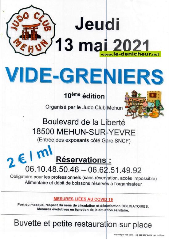 q13 - DIM 13 mai - MEHUN /Yèvre - Vide greniers du Judo _* 05-13_10