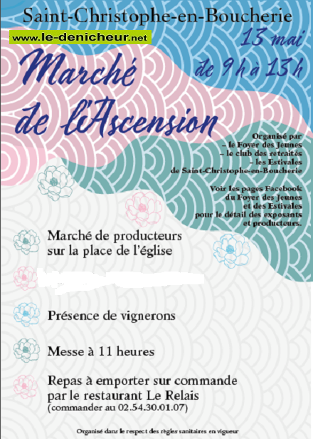 q13 - JEU 13 mai - ST-CHRISTOPHE EN BOUCHERIE - Marché de l'Ascension */ 05-13_11