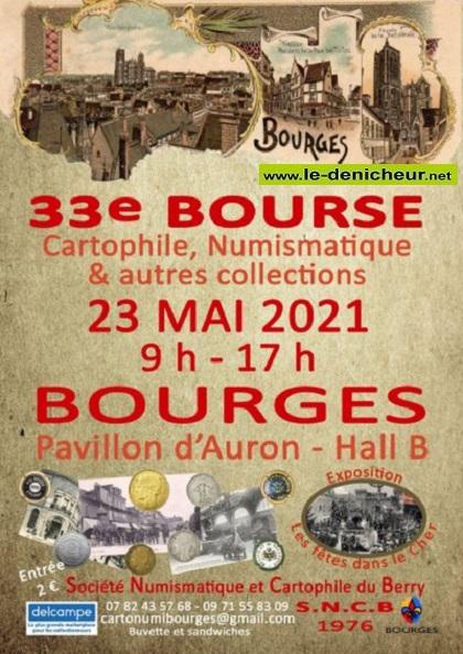 q23 - DIM 23 mai - BOURGES - Bourse Cartophile, Numismatique et autres collections* 05-2311