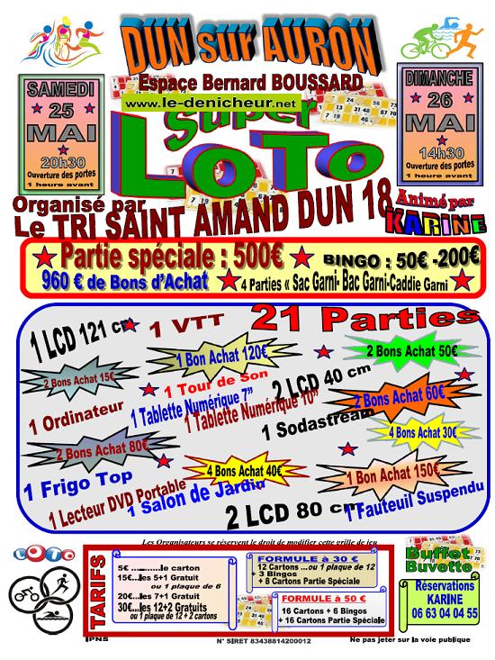 q26 - DIM 26 mai - DUN /Auron - Loto du Tri St-Amand Dun 18 */ 05-25_18