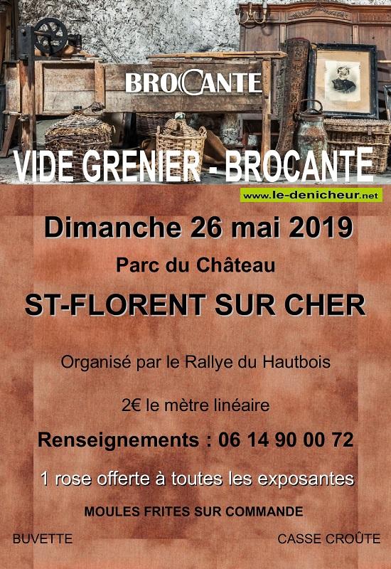 q26 - DIM 26 mai - ST-FLORENT /Cher - Brocante du Rallye du Hautvois */ 05-26_11