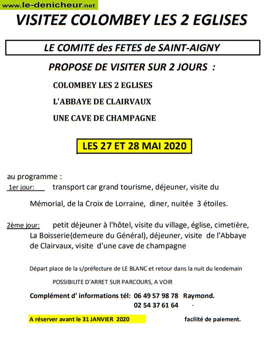 ze27 - Les 27 et 28 mai - ST-AIGNY - Voyage à Colombay les 2 Eglises 05-2710