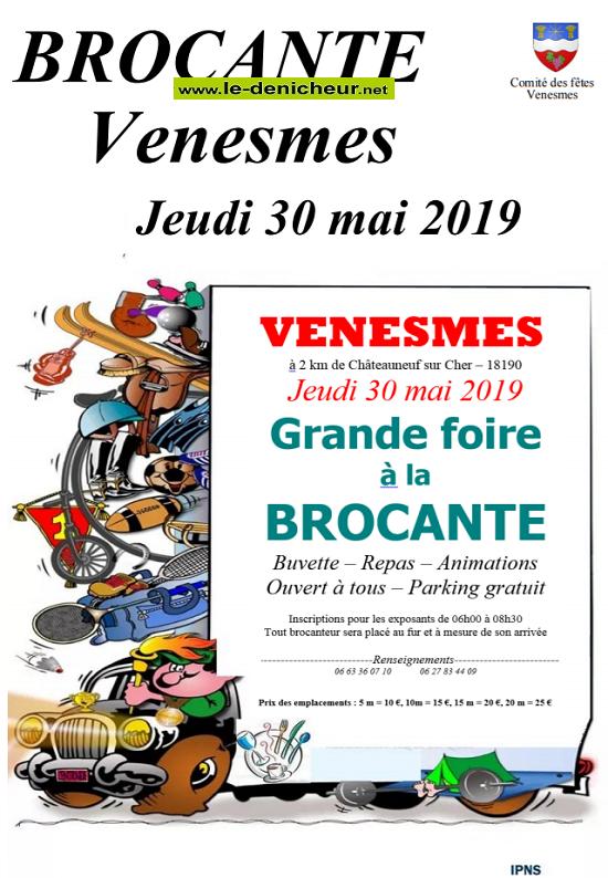 q30 - JEU 30 mai - VENESMES - Brocante du comité des fêtes .*/  05-30_10