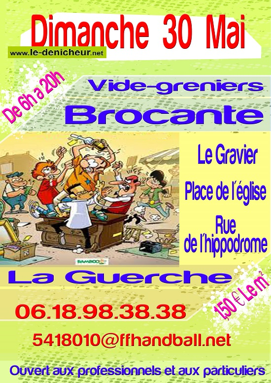 q30 - DIM 30 mai - LA GUERCHE /l'Aubois - Vide grenier _* 05-30_17