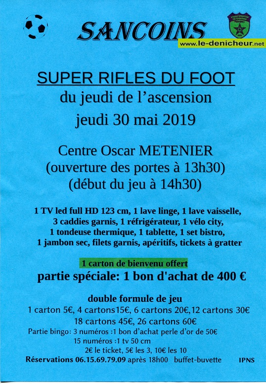 q30 - JEU 30 mai - SANCOINS - Rifles du foot */ 05-30o10