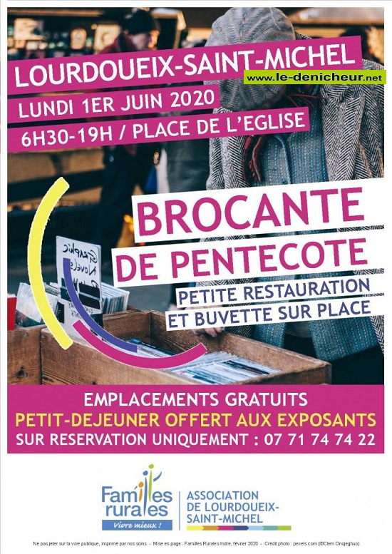 f01 - LUN 01 juin - LOURDOUEIX ST-MICHEL - Brocante annulée * 06-01_36