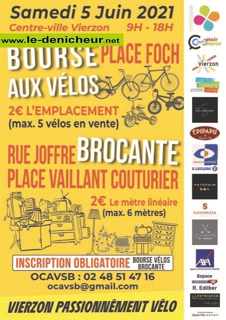 r05 - SAM 05 juin - VIERZON - Brocante / Bourse aux vélos _* 06-05_10