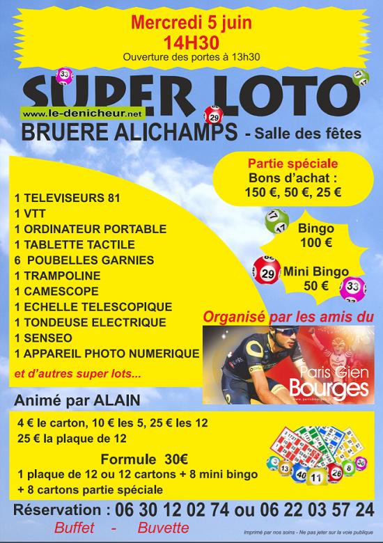 r05 - MER 05 juin - BRUERE-ALLICHAMPS - Loto des Amis du Paris Gien Bourges */ 06-05_10