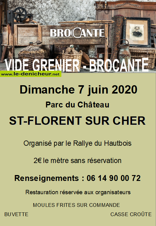 f07 - DIM 07 juin - ST FLORENT /Cher - Brocante du Rallye du Hautbois */ 06-07_11