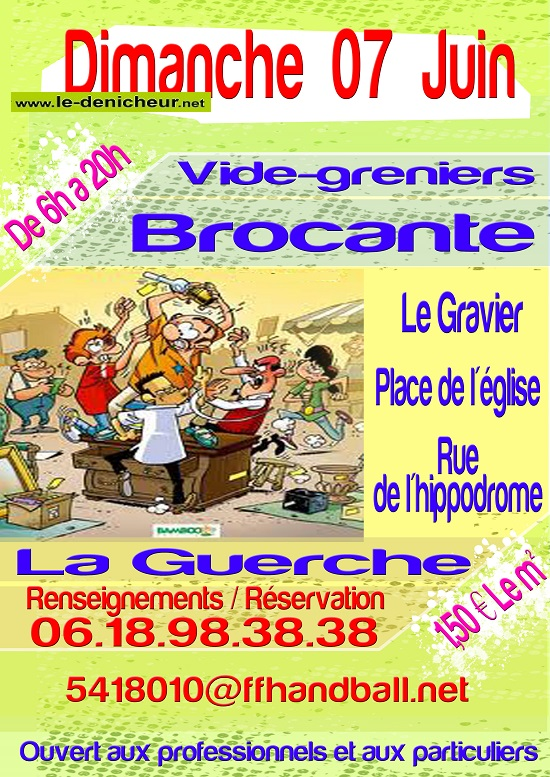 f07 - DIM 07 juin - LA GUERCHE /l'Aubois - Brocante du Handball annulée*/ 06-07_19