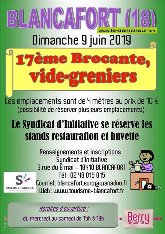 r09 - DIM 09 juin - BLANCAFORT - Brocante du Syndicat d'Initiative * 06-0911