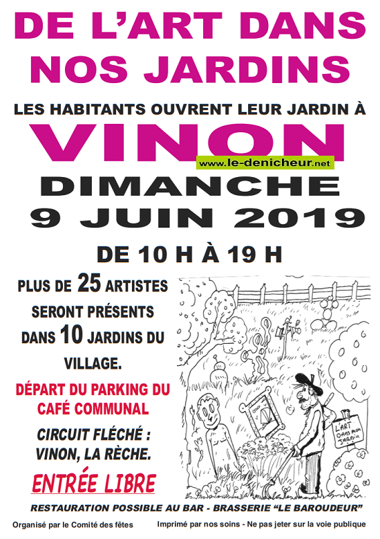 r09 - DIM 09 juin - VINON - De l'Art dans nos jardins .*/  06-09_15