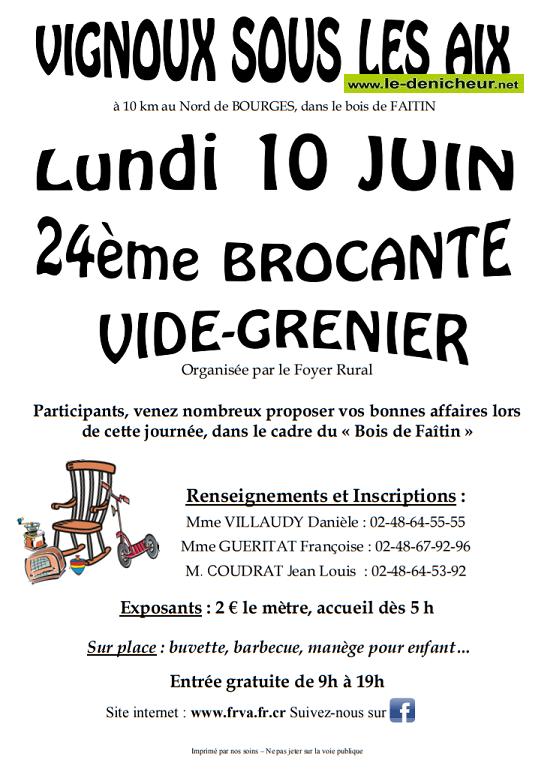 r10 - LUN 10 juin - VIGNOUX sous les Aix - Brocante du Foyer rural */ 06-10_11