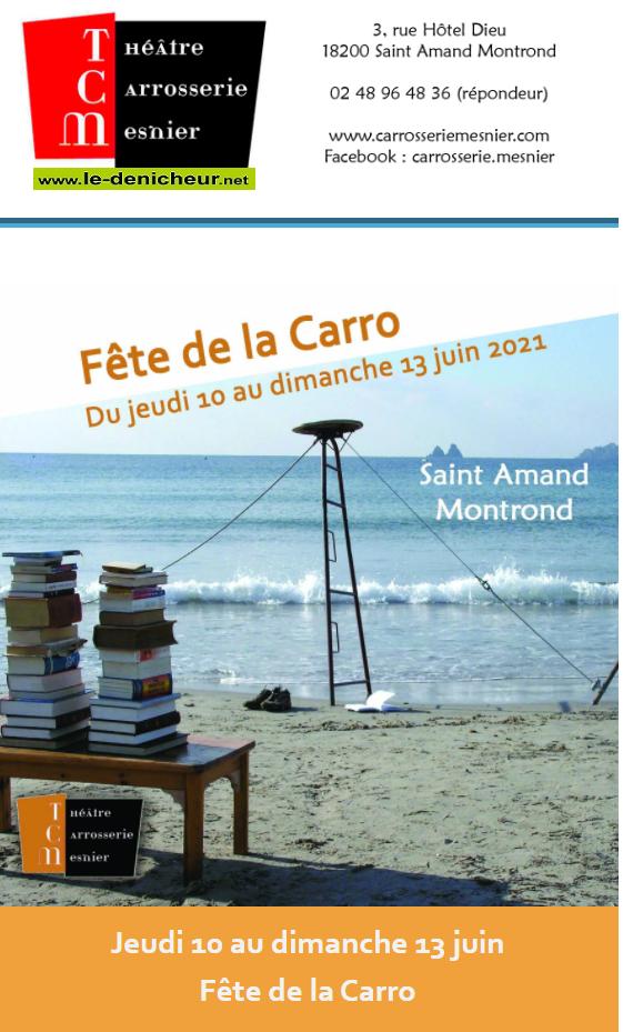 r13 - DIM 13 juin - ST-AMAND-MONTROND - Fête de la Carro _* 06-1210