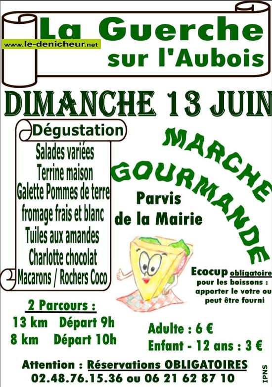r13 - DIM 13 juin - LA GUERCHE /l'Aubois - Marche gourmande du comité des fêtes*/ 06-13_14