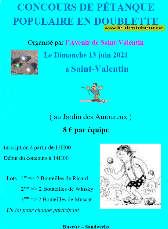 r13 - DIM 13 juin - ST-VALENTIN - Concours de Pétanque Populaire */ 06-13_16