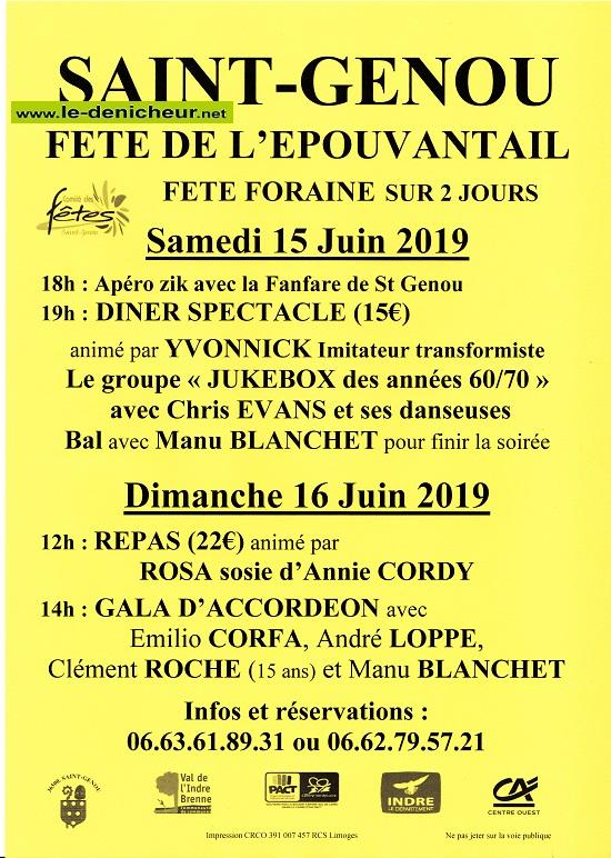 r16 - DIM 16 juin - ST-GENOU - Fête de l'épouvantail */ 06-15_16