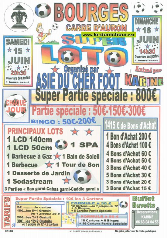 r15 - SAM 15 juin - BOURGES - Loto d'A.S.I.E du Cher Foot */ 06-15_17