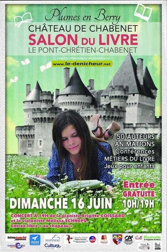 r16 - DIM 16 juin - LE PONT CHRETIEN CHABENET - Salon du Livre * 06-16_41