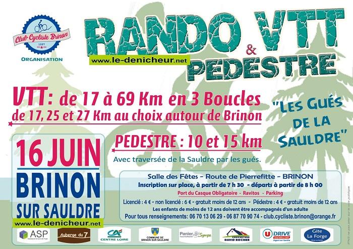 r16 - DIM 16 juin - BRINON /Sauldre - Randonnée pédestre et VTT * 06-16_45