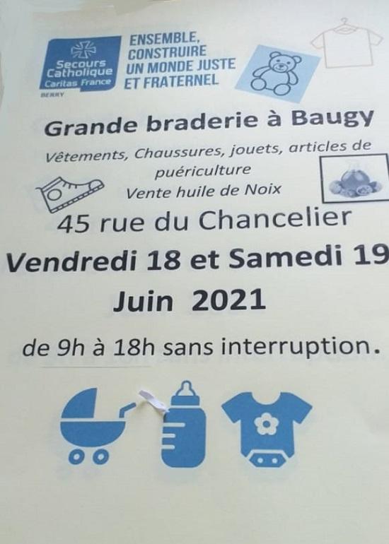 r19 - SAM 19 juin - BAUGY - Braderie du Secours Catholique * 06-18_13