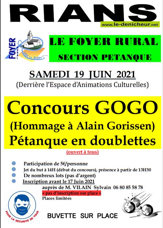 r19 - SAM 19 juin - RIANS - Concours de pétanque en doublette */ 06-19_11