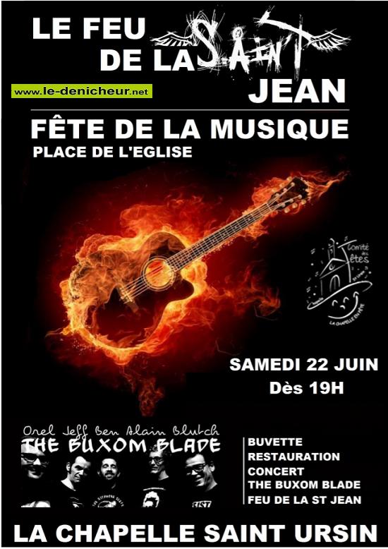 r22 - SAM 22 juin - LA CHAPELLE ST-URSIN - Fête de la musique */ 06-22_11