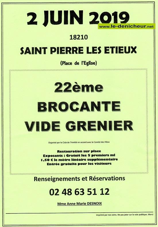 r02 - DIM 02 juin - ST-PIERRE LES ETIEUX - Brocante _* 06-22_19
