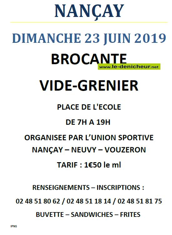 r23 - DIM 23 juin - NANCAY - Brocante de l'Union Sportive */ 06-23_11