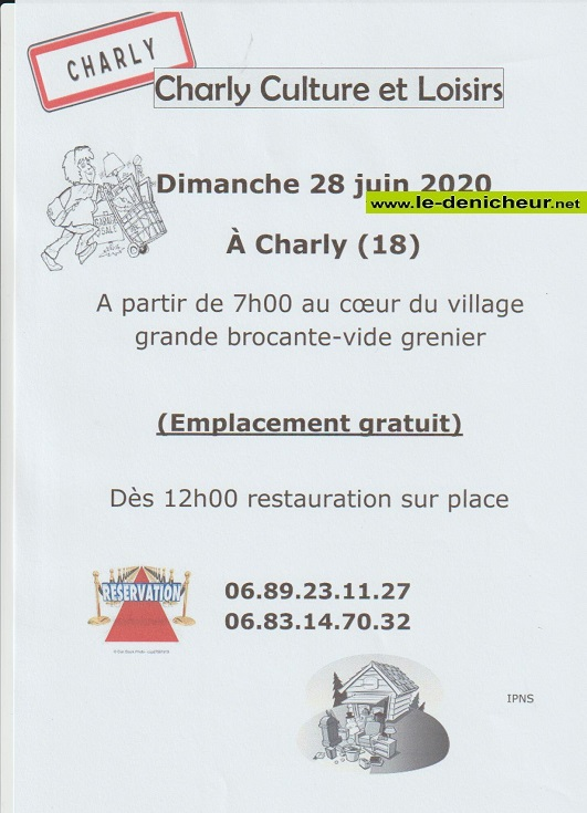 f28 - DIM 28 juin - CHARLY - Brocante de Charly Culture et Loisirs annulée */ 06-28_16