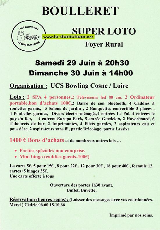 r29 - SAM 29 juin - BOULLERET - Loto de l'USC Bowling */ 06-29_14