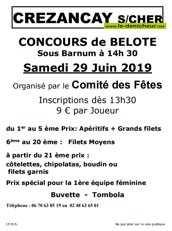 r29 - SAM 29 juin - CREZANCAY /Cher - Concours de belote */ 06-29_16