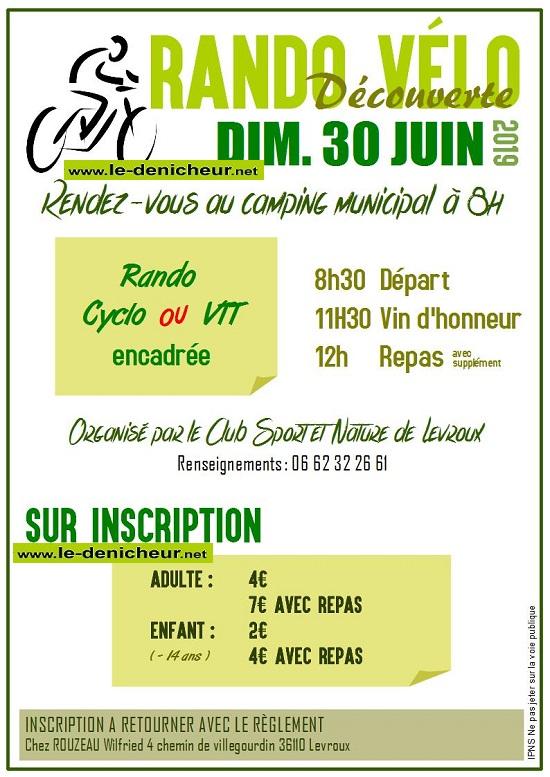 r30 - DIM 30 juin - LEVROUX - Randonnée cyclo et VTT */ 06-30_30