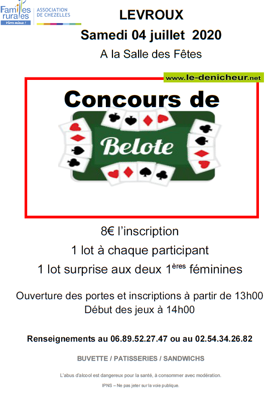 g04 - SAM 04 juillet - LEVROUX - Concours de belote */ 07-0411