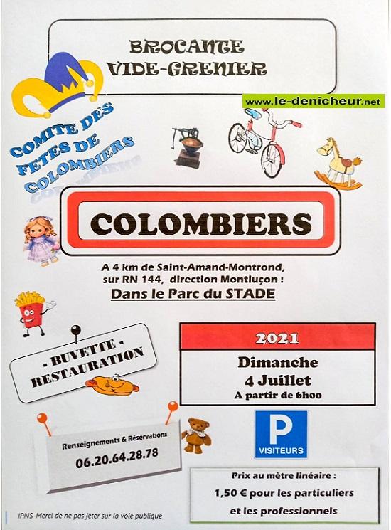 s04 - DIM 04 juillet - COLOMBIERS - Brocante du comité ds fêtes * 07-04_25