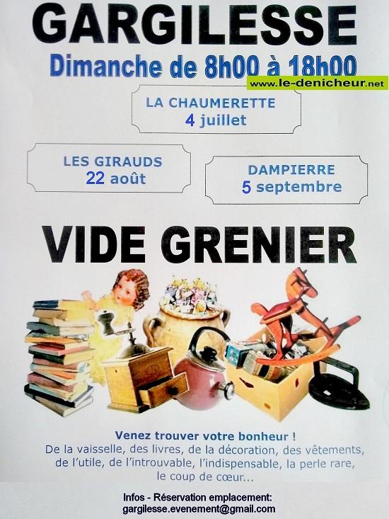 u05 - DIM 05 septembre - GARGILESSE (Dampierre) - Vide Grenier * 07-04_26